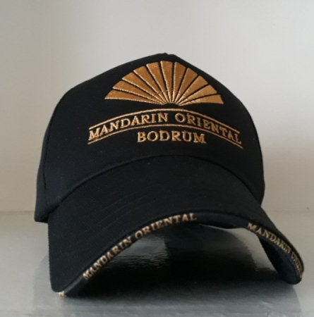 5 Panel Siyah İhracat Şapka