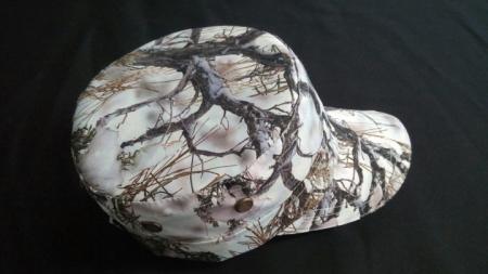 Beyaz Orman Desenli Kastro Şapkası
